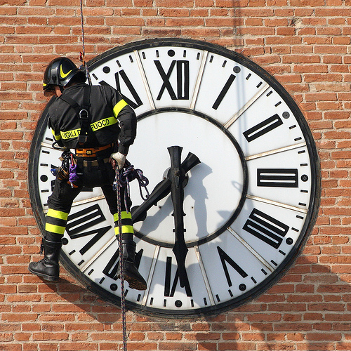 clock and firefighter